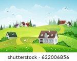 Rural Summer Landscape With...
