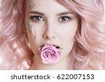 Colored Hair. Beauty Women...
