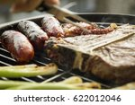 a t bone steak and other animal ... | Shutterstock . vector #622012046
