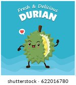 vintage durian poster design... | Shutterstock .eps vector #622016780