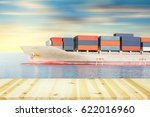 cargo freight ship and cargo... | Shutterstock . vector #622016960