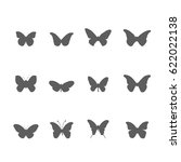 set of butterfly icon vector | Shutterstock .eps vector #622022138