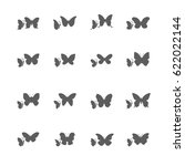 set of butterfly icon vector | Shutterstock .eps vector #622022144