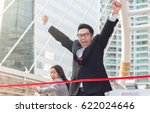 the businessman is running to... | Shutterstock . vector #622024646