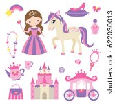 vector illustration of princess ... | Shutterstock .eps vector #622030013