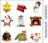 christmas icon | Shutterstock .eps vector #62203051