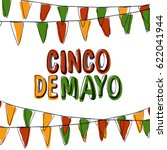 cinco de mayo postcard. holiday ... | Shutterstock .eps vector #622041944