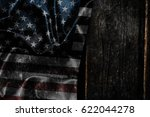 usa flag on a wood surface   Shutterstock . vector #622044278