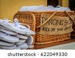 Rattan Basket With White Flip...