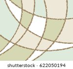 background of torn curved lines ... | Shutterstock .eps vector #622050194