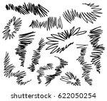 vector collection ink hand... | Shutterstock .eps vector #622050254