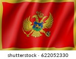 national flag of montenegro...   Shutterstock .eps vector #622052330