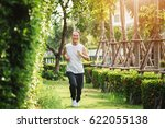 blurry picture of adult man... | Shutterstock . vector #622055138