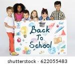 kids back to school education... | Shutterstock . vector #622055483