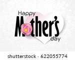 happy mother's day calligraphy... | Shutterstock .eps vector #622055774