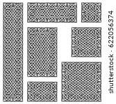 seamless celtic knots patterns... | Shutterstock .eps vector #622056374