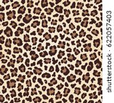 Stock vector leopard seamless texture fur imitation vector 622057403