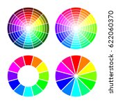 rgb color wheel from 12 color ... | Shutterstock . vector #622060370