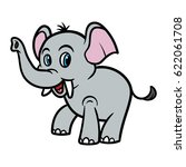 cartoon elephant vector... | Shutterstock .eps vector #622061708