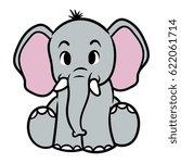cartoon elephant vector... | Shutterstock .eps vector #622061714