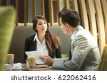 young attractive business... | Shutterstock . vector #622062416