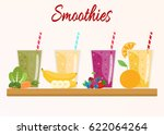 cartoon smoothies. orange ... | Shutterstock .eps vector #622064264
