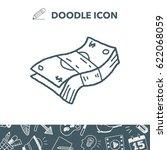 doodle money | Shutterstock .eps vector #622068059