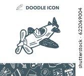 doodle toy plane | Shutterstock .eps vector #622069004