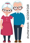 elderly loving couple husband... | Shutterstock .eps vector #622069268