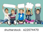 children smiling happiness... | Shutterstock . vector #622074470