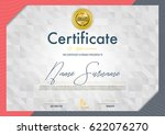certificate template luxury and ... | Shutterstock .eps vector #622076270