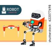 robot character cartoon design... | Shutterstock .eps vector #622077698