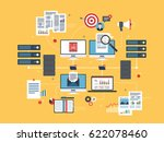 computers and laptop accessing ...   Shutterstock .eps vector #622078460