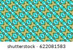 sloping colorful ornament for... | Shutterstock . vector #622081583