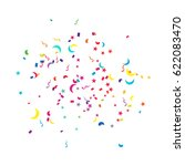 many falling colorful tiny... | Shutterstock .eps vector #622083470