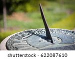 Close Up Of A Brass Sundial...