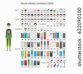character creation superhero | Shutterstock .eps vector #622090100