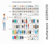 character creation casualman | Shutterstock .eps vector #622090154