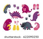 vector dinosaurs  baby... | Shutterstock .eps vector #622090250