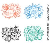 flower set | Shutterstock .eps vector #622090340