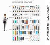 character creation criminal | Shutterstock .eps vector #622090394