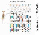 character creation journalist | Shutterstock .eps vector #622090490