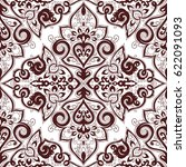 seamless abstract ornate pattern | Shutterstock . vector #622091093