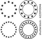 stars in circle vector... | Shutterstock .eps vector #622093046