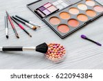set of decorative cosmetics on... | Shutterstock . vector #622094384