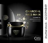 luxury cosmetic bottle package... | Shutterstock .eps vector #622094849