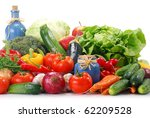 composition with variety of raw ... | Shutterstock . vector #62209528