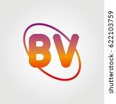 initial letter bv logo on white ...