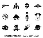 alien and ufo icons set | Shutterstock .eps vector #622104260
