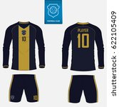 set of soccer kit or football... | Shutterstock .eps vector #622105409